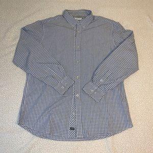 PD&C Men's Checkered Dress Shirt